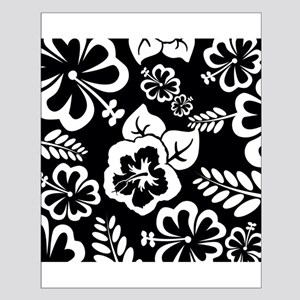 Black and white tropical flowers Poster Design