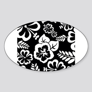 Black and white tropical flowers Sticker