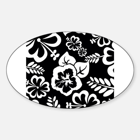 Black and white tropical flowers Decal