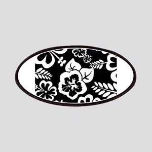 Black and white tropical flowers Patches