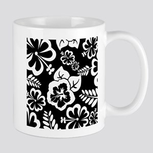 Black and white tropical flowers Mugs