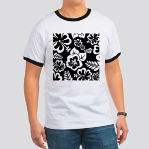 Black and white tropical flowers T-Shirt