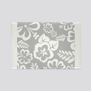 Grey tropical flowers Magnets