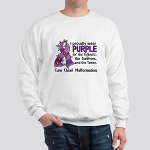 For Fighters Survivors Taken Chiari Sweatshirt