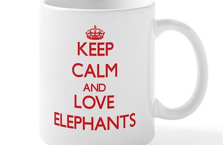 Keep Calm And Love Elephants Mugs