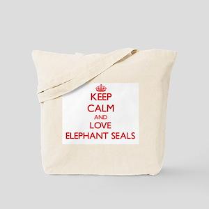 Keep calm and love Elephant Seals Tote Bag
