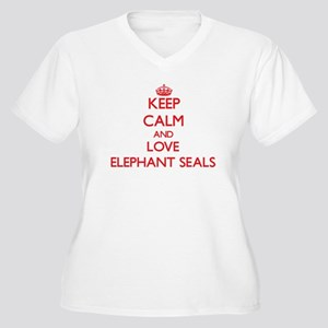 Keep calm and love Elephant Seals Plus Size T-Shir