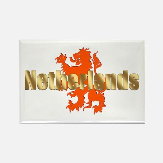 Netherlands Orange Lion Rectangle Magnet