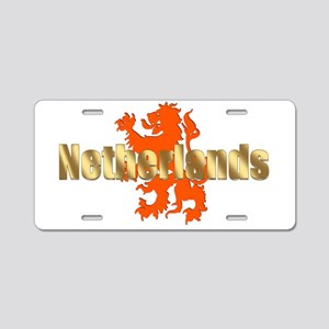 Netherlands Orange Lion Aluminum License Plate