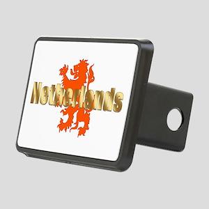 Netherlands Orange Lion Rectangular Hitch Cover