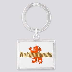 Netherlands Orange Lion Landscape Keychain