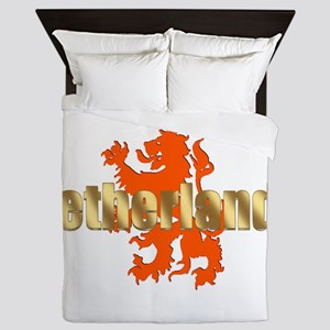Netherlands Orange Lion Queen Duvet
