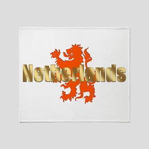 Netherlands Orange Lion Throw Blanket