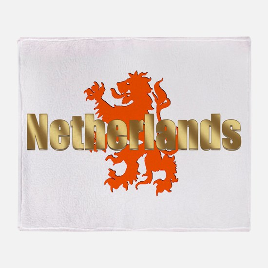 Netherlands Orange Lion Throw Blanket