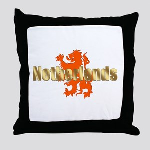 Netherlands Orange Lion Throw Pillow