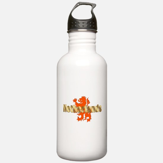 Netherlands Orange Lion Water Bottle