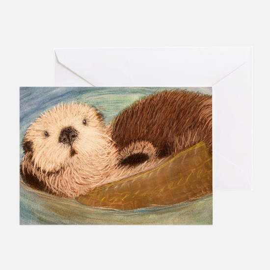 Sea Otter--Endangered Species Greeting Card