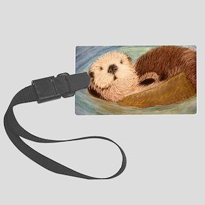 Sea Otter--Endangered Species Large Luggage Tag