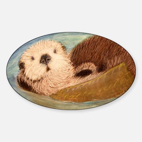 Sea Otter--Endangered Species Sticker (Oval)