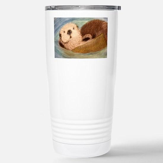 Sea Otter--Endangered S Stainless Steel Travel Mug