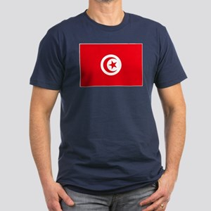 Tunisia Flag Men's Fitted T-Shirt (dark)