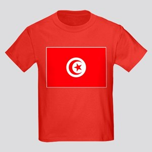 Tunisia Flag Kids Dark T-Shirt