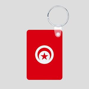 Tunisia Flag Aluminum Photo Keychain