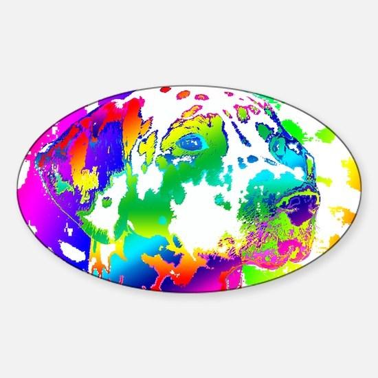 Dalmatian--Abstract Color Design Sticker (Oval)