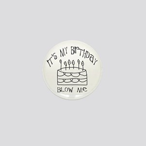birthday blow me Mini Button