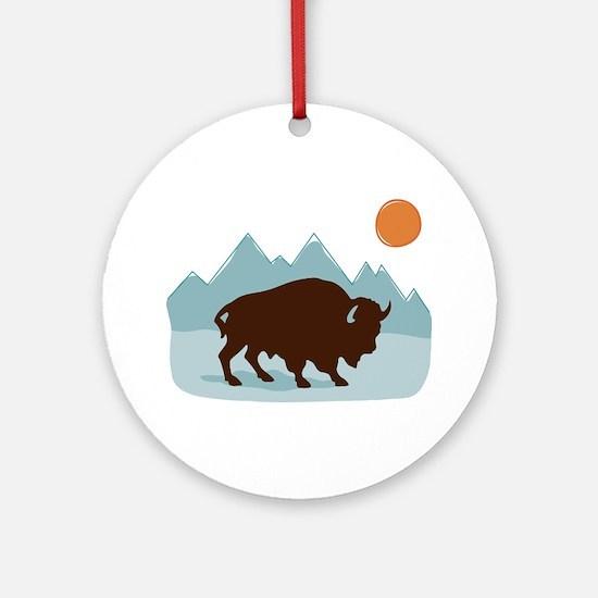 Buffalo Mountains Ornament (Round)