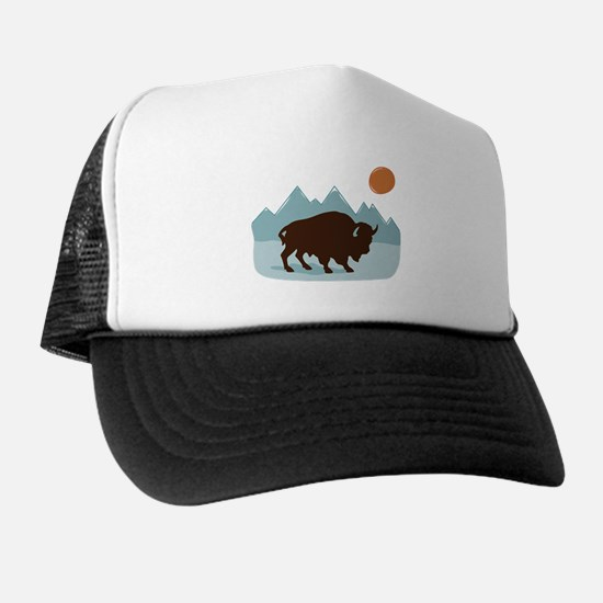 Buffalo Mountains Trucker Hat