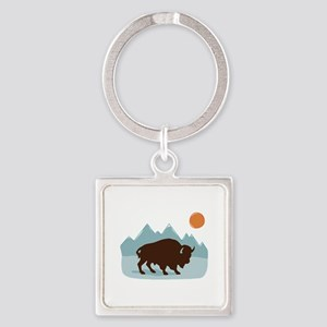 Buffalo Mountains Keychains