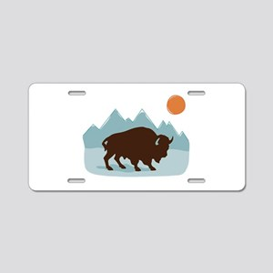 Buffalo Mountains Aluminum License Plate