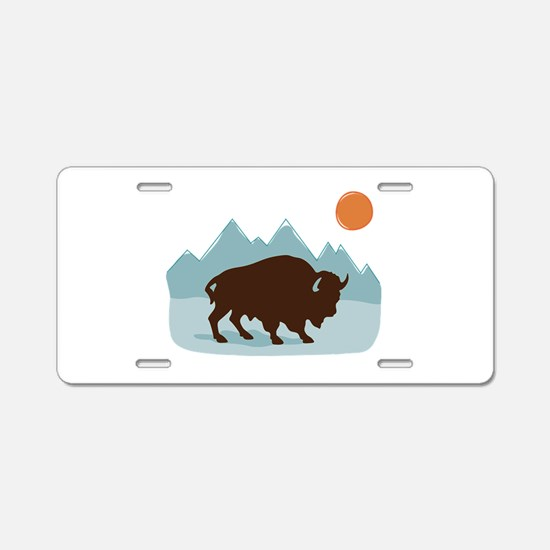 Buffalo Mountains Aluminum License Plate