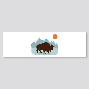 Buffalo Mountains Bumper Sticker