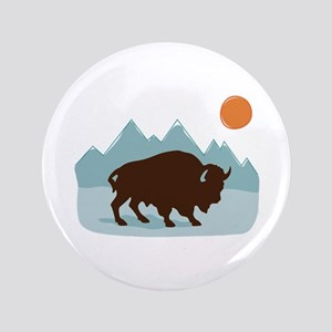 """Buffalo Mountains 3.5"""" Button"""