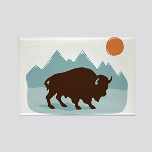 Buffalo Mountains Magnets