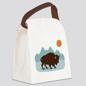 Buffalo Mountains Canvas Lunch Bag