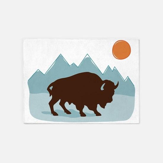 Buffalo Mountains 5'x7'Area Rug