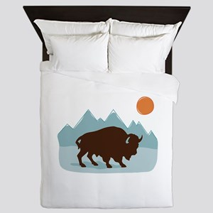 Buffalo Mountains Queen Duvet