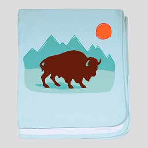 Buffalo Mountains baby blanket
