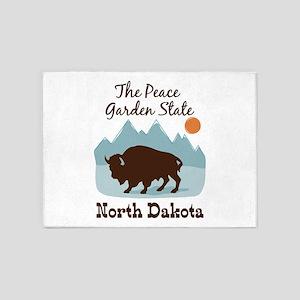 The Peace Garden State North Dakota 5'x7'Area Rug
