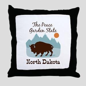 The Peace Garden State North Dakota Throw Pillow