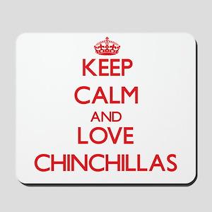 Keep calm and love Chinchillas Mousepad