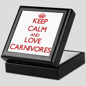 Keep calm and love Carnivores Keepsake Box