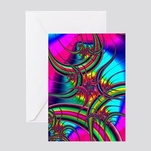Fabulous Fractal2 Greeting Cards