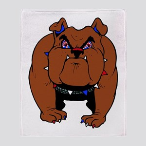 British Bulldog Throw Blanket
