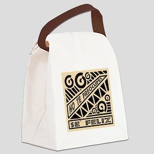 Se Feliz-Abstract Design Canvas Lunch Bag