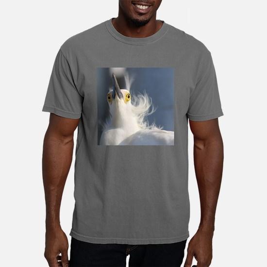 Unique Snowy egret beach Mens Comfort Colors Shirt