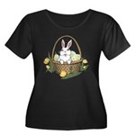Pocket E Women's Plus Size Scoop Neck Dark T-Shirt